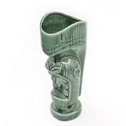Environmentally friendly 3D embossed 600ml Tiki totem mug