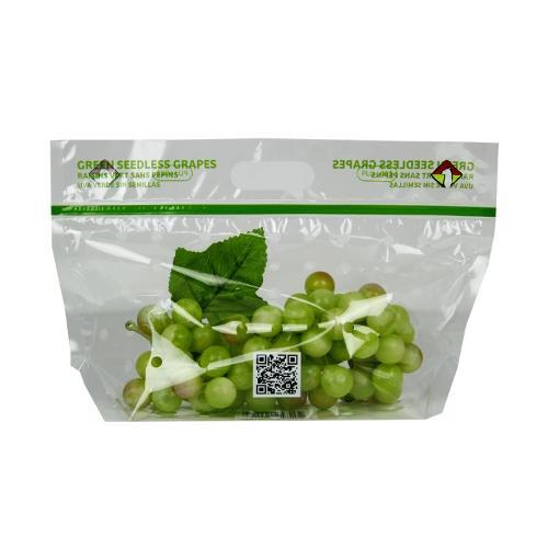 Custom printed 1kg table grape bag with ziplock