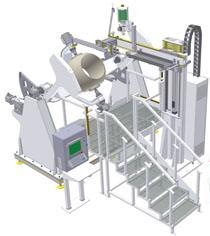 Unité automatique de rechargement de soudage PTA Commersald Impianti ROBOSFERA
