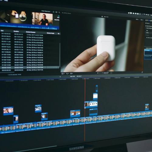 video editing e motion graphics