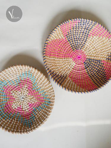 Decorative Seagrass Bowls for Wall Decor