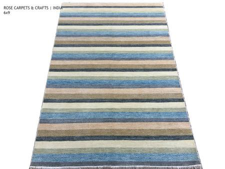 Indian Hand Knotted Contemporary Wool Rug