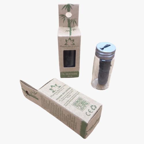 Fil Dentaire En Charbon De Bambou Biodegradable Avec Cire De Candelilla