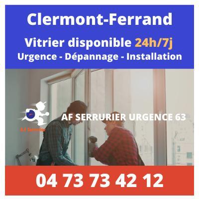 Vitrier Clermont-Ferrand | Intervention rapide à prix fixe 7j/7, 24h/24