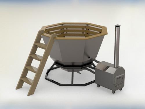 Outdoor vat with oven