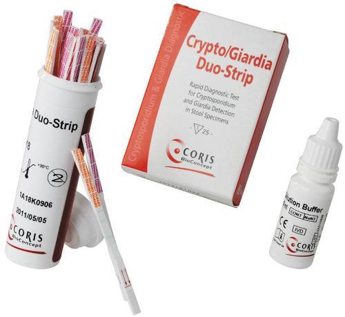 test Dipstick - detection of Cryptosporidium & Giardia :