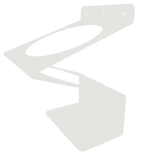 Wandhalter Zick Zack weiß für Spenderdosen
