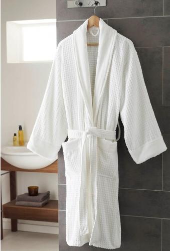 Sheraton terry velour cotton bathrobe