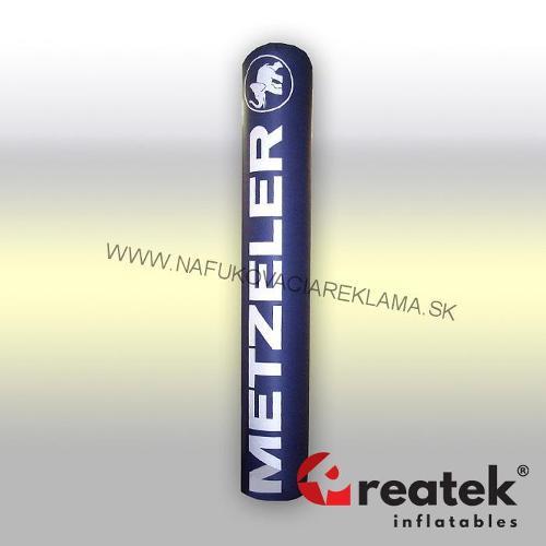 Inflatable advertising pillar