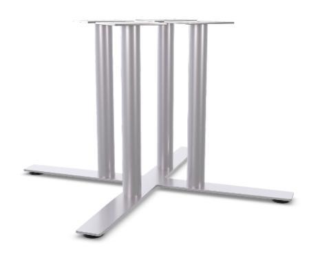 Table steel base X shape
