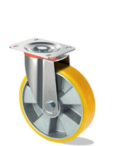 Polyurethane wheel with aluminium centre