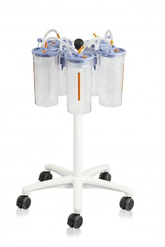 Trolley for fluid collection systems