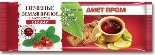 Strawberry flavored cookies with stevia Diet Prom 100 g