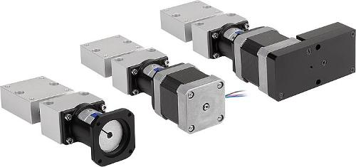 Positioning tables short with coaxial electric drive