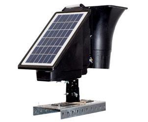 Effaroucheur transportable pour aeroport à panneau solaire