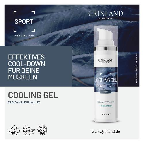 COOLING GEL / CBD-Anteil: 3750mg - 5% - 75 ml