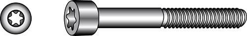Zylinderschrauben mit TX-Innensechsrund-Antrieb
