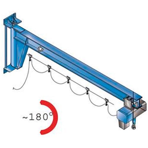 Wall-mounted slewing jib cranes AW