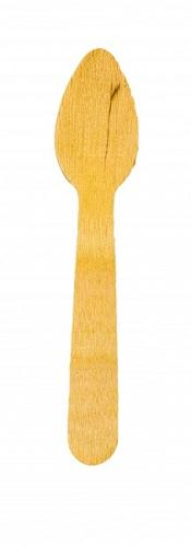 The disposable wooden dessert spoon