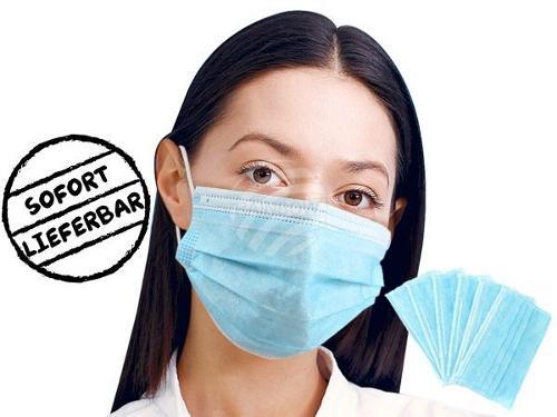 Atemschutzmaske Staubmaske Mundschutz Schutzmaske dreilagig