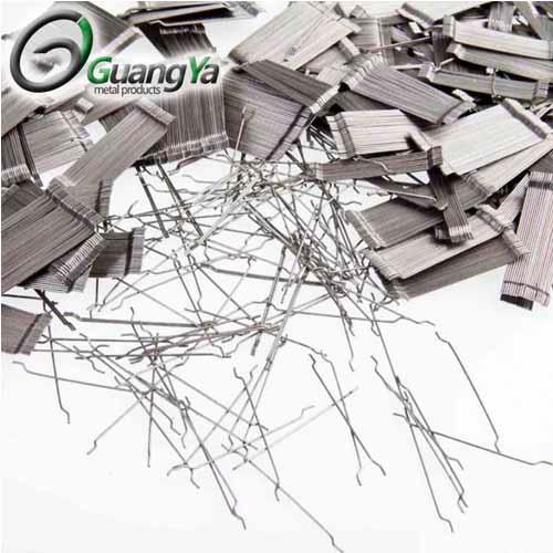 Gancho extremo de fibras de acero