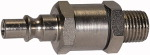 Inline-filter filter plug , R 3/8, nickel-plated steel