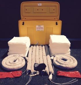 Kit D'intervention Antipollution Tous Liquides Et Chimiques - 360 Litres