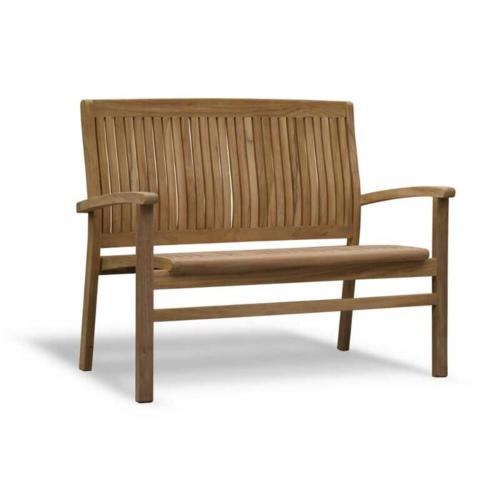 wooden garden bench teak 120x48x92 cm
