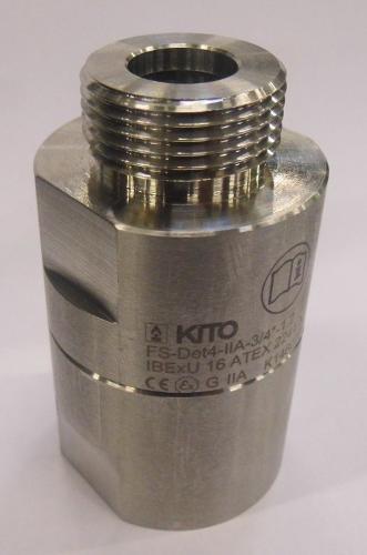 Detonation flame arresters, KITO FS-Det4-IIA-...-1,2