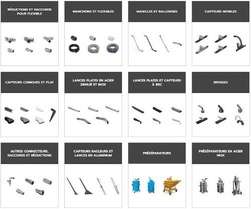 Accessoires aspirateurs industriels
