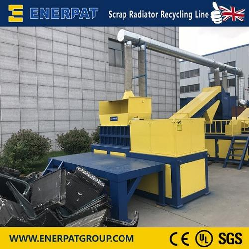 Auto AC cooling radiator shredder recycling line and plastic