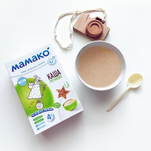 Goat milk-based buckwheat cereal