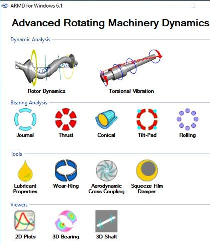 ARMD - Rotordynamic Software