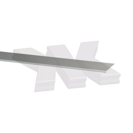 Flat-profile 15x2mm, stainless steel effect