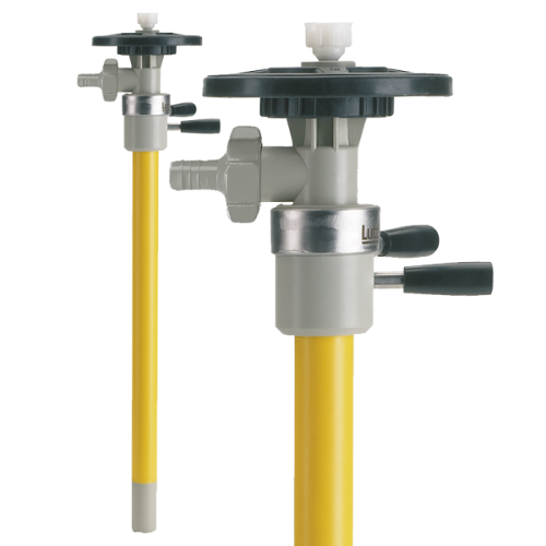 Pump tube for complete drum drainage PP with impeller,...