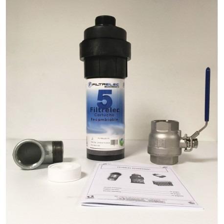 Kit filtre à eau capteur d'hydrocarbure rechargeable
