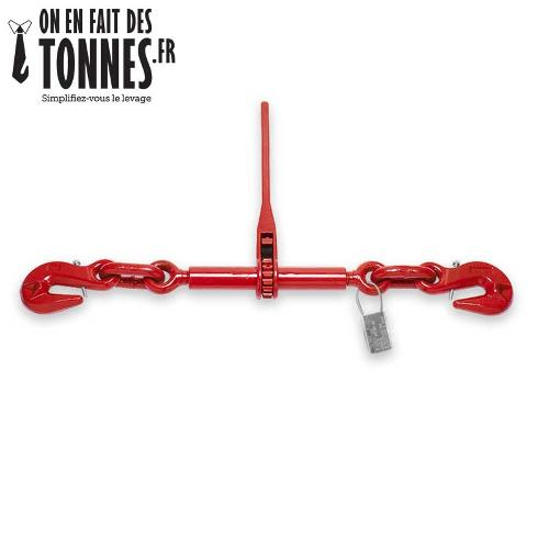 Tendeur à cliquet 2 crochets pour chaîne