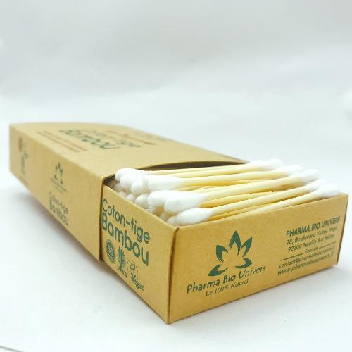 200 Cotons-tiges Écologiques En Bambou 100% Biodégradables