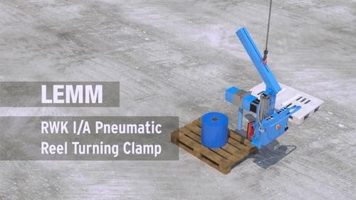 Reel turning clamp, pneumatic