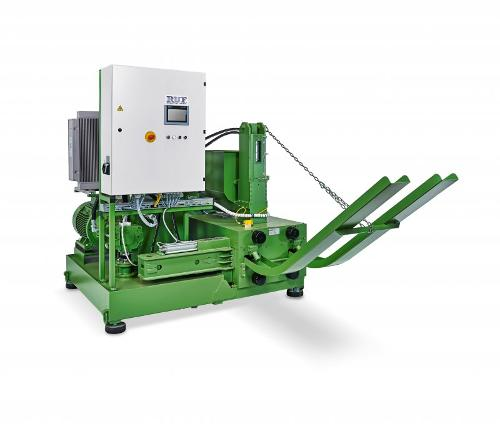 RUF briquette press for biomass