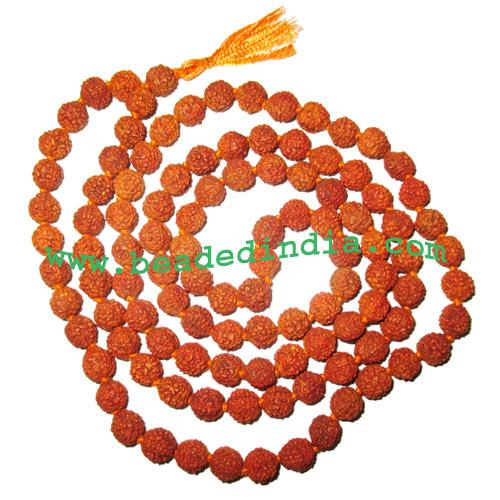 Rudraksha Beads String (mala) 5 Mukhi (five face), size: 9mm