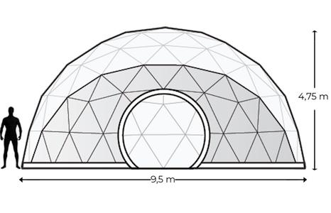 Alquiler Domos Geodésicos Geodomes G75