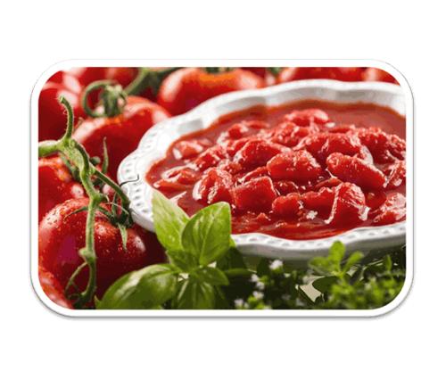 Polpa di pomodoro cubettata