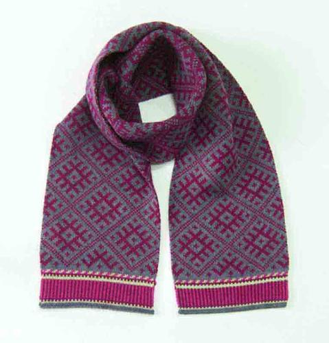 100% Wool Scarf double-sided 'TILDA'