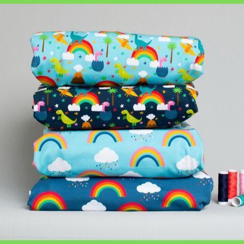 Gots certified fabric custom digital printed organic cotton
