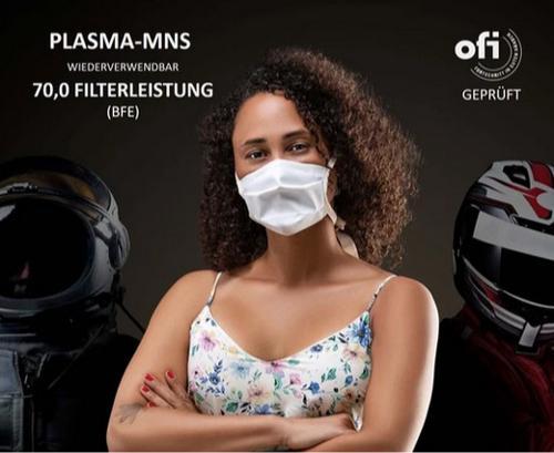 Mehrweg Plasma-Mund-Nasen-Schnellmaske mit Kopfbänder