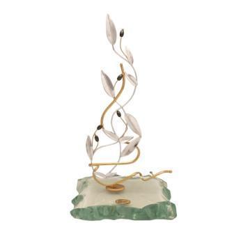 Greek Sterling Silver Olive leaf Wreath on amethyst (A-43-4)