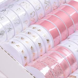 Christmas gift packing satin ribbon set