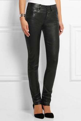 Кожаные штаны стрейчевые