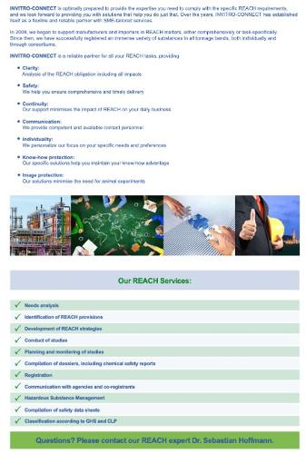 Complete REACH Service - Laboratory- and Regulatory Services